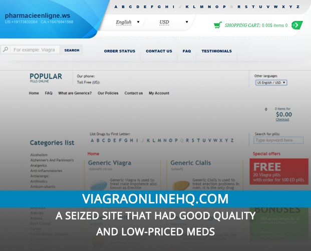 Viagraonlinehq.com Review – A Seized Site that Had Good Quality and Low-Priced Meds