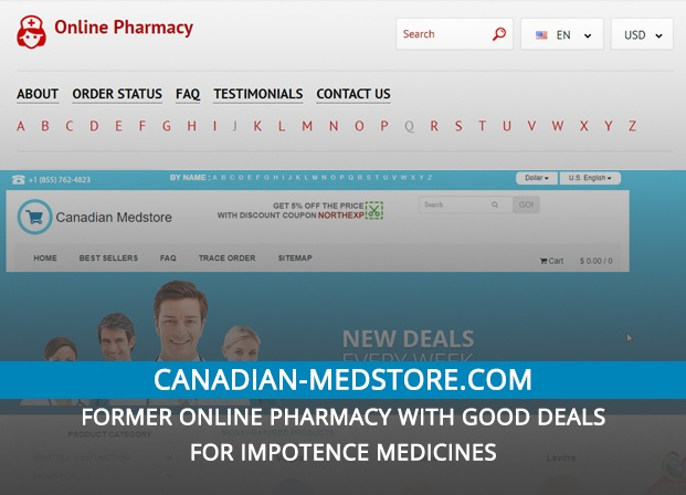 Canadian-medstore.com Review – Former Online Pharmacy with Good Deals for Impotence Medicines