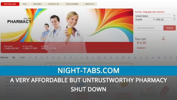 Night-Tabs.Com Review – A Very Affordable but Untrustworthy Pharmacy Shut Down