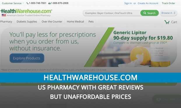 Healthwarehouse.Com Review – US Pharmacy with Great Reviews but Unaffordable Prices