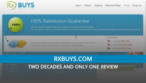 RXbuys.com Review– Two Decades and Only One Review