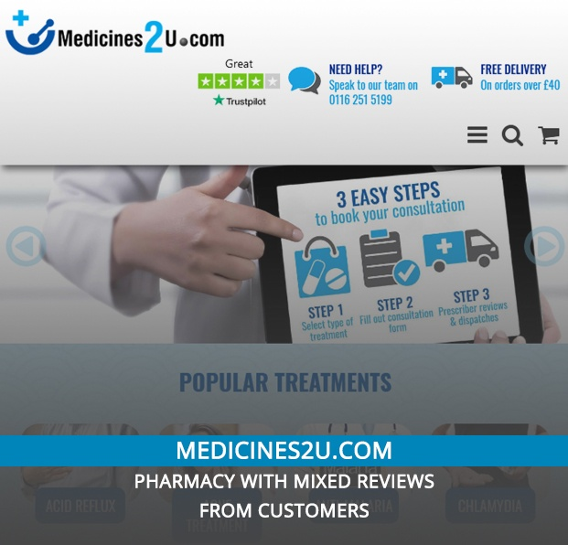 Medicines2u.com Review – Pharmacy With Mixed Reviews from Customers