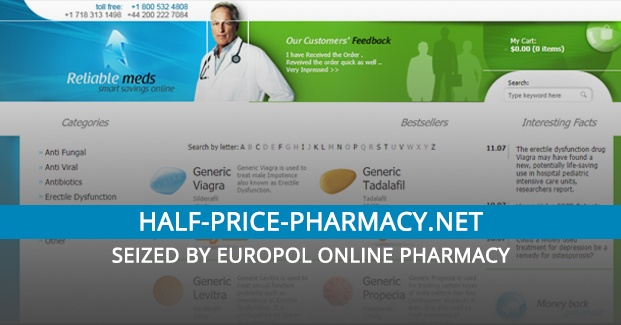 Half-price-pharmacy.net Review – Seized by Europol Online Pharmacy