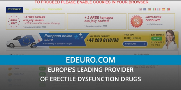 Edeuro.com Review – Europe's Leading Provider of Erectile Dysfunction Drugs