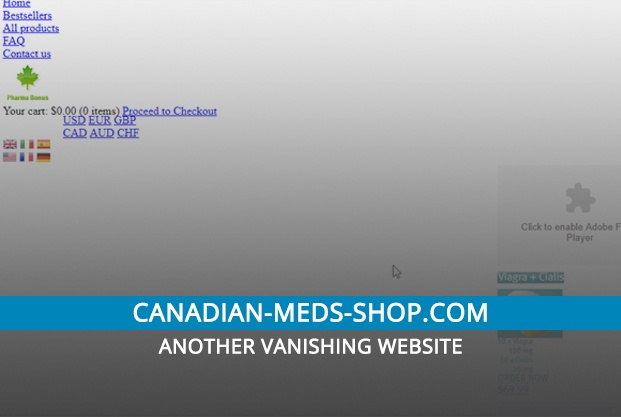 Canadian-meds-shop.com Review – Another Vanishing Website