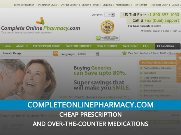 Completeonlinepharmacy.com Review – Cheap Prescription and Over-the-Counter Medications