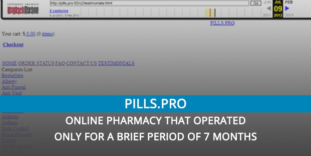 Pills.pro Review – Online Pharmacy that Operated only for a Brief Period of 7 Months