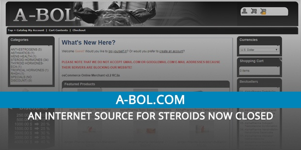 A-bol.com Review – An Internet Source for Steroids Now Closed